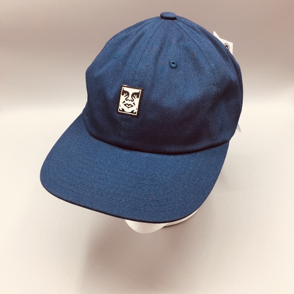 OBEY Andre the Giant Navy Adjustable Hat
